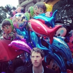 Ballon head - outside the zoo