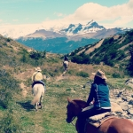 Riding in Los Glaciares national park
