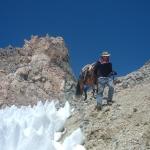 Climbing down from Portillo pass